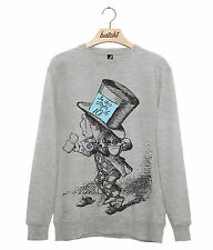BATCH1 ALICE IN WONDERLAND THROUGH THE LOOKING GLASS MAD HATTER MENS SWEATSHIRT