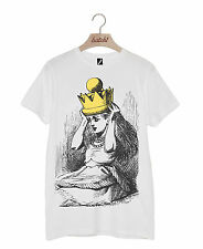 BATCH1 ALICE IN WONDERLAND THROUGH THE LOOKING GLASS GOLD CROWN UNISEX T-SHIRT