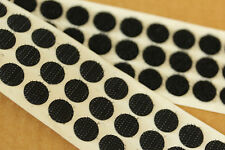 Self Adhesive BLACK Hook & Loop Coins 13mm SACOIN® or 16mm VELCRO® Dots Spots