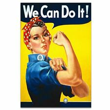 """We Can Do It !  World War 2 Propaganda """"Rosie The Riveter"""" Poster A3 Size"""