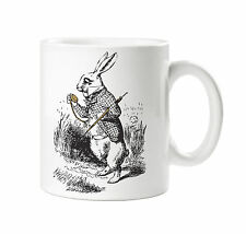 BATCH1 ALICE IN WONDERLAND THROUGH THE LOOKING GLASS WHITE RABBIT PRINTED MUG