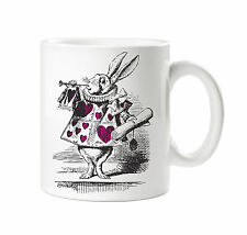 BATCH1 ALICE IN WONDERLAND THE LOOKING GLASS RABBIT AND TRUMPET PRINTED MUG