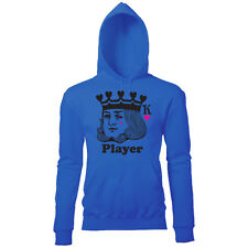 KING OF HEARTS PLAYER MENS COOL CARD PRINT HOODIE