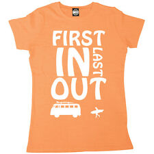 FIRST IN LAST OUT WOMENS PRINTED BRITISH SUMMER SURF T-SHIRT