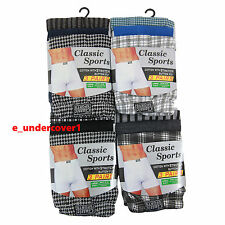 12 Pack Boys kids Classic Cotton Jersey Check Boxer Shorts Ages 2 -13 Years