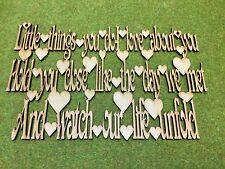MDF Laser Cut - Little things you do i love about you Hanging