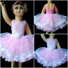 Kids Wear Elegant Party Wear Frock Dress Pink