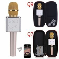 Q9 Q7 Portable Wireless Microphone Mic Handheld Microphone KTV Audio Player ES