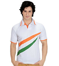 Multi Colour Polo T-Shirt - Indian Flag Theme