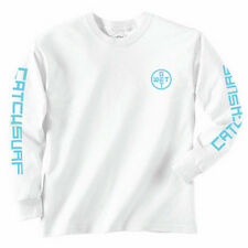 CATCH SURF 'GET WET LS TEE' MENS LONG SLEEVE T-SHIRT L LARGE WHITE SURF NEW