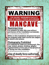 Metal Sign vintage style warning Mancave funny decorative tin wall door plaque