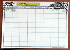 A3 Full Size Laminate Weekly planner dry wipe wall chart with 2019/2020 calendar