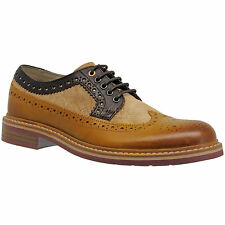 New CLARKS Darby Limit Mens Wingtip Brogue Leather Oxford Shoes Brown Tan C