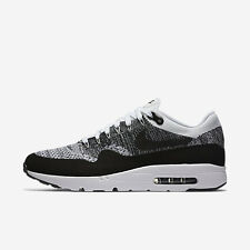 Nike Air Max 1 Ultra Flyknit Running Shoes White Black Oreo 843384-100