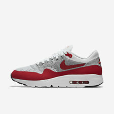 Nike Air Max 1 Ultra Flyknit Running Shoes White/University Red/Grey 843384