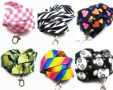 Spirius Neck Strap Lanyard with Metal Clip for ID Card badge holder multicolour