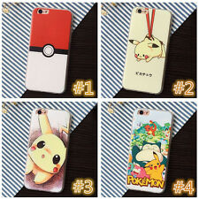 For iPhone 5 6 6s plus Lovely Cartoon Pokemon Pikachu Soft Phone Case Cover