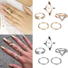 5stk.Nagelring Midi Ring Above Knuckle Obergelenkring Fingerspitzenring Set