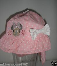 Brand New Disney Baby Minnie Mouse Pink Sun Hat ages 0-6, 6-12, 12-23 months