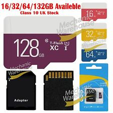 16/32/64/132GB Ultra Micro SD SDHC Ultra TF Memory SD Card w/ADAPTER Class 10 UK
