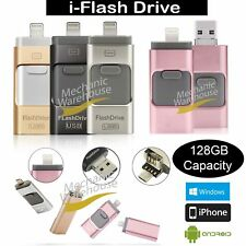32 64 128GB i Flash Drive OTG Device USB Stick For iPhone 5 SE 6 7 Plus Android
