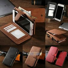 Luxury Genuine Leather Flip Wallet Phone Case Cover for iPhone 6 6s 7 7 Plus