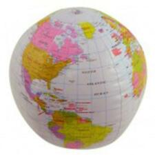 Hinchable 40cm Globo Del Mundo Map Geography Golpe De La Bola Up Piscina Verano