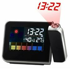 Digital LCD/LED Projector Alarm Clock Projecting Weather Station Temperature New