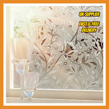 2m/3m/4m x 90cm wide frosted Window Film glass tulip design vinyl static cover