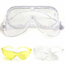 New High Visibility Safety Glasses & Goggles  Anti-Scratch & Anti-Fog Clear Lens