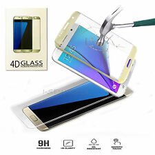 Premium 9H Full Curved 4D Tempered Glass Screen Protector For Samsung S7 Edge