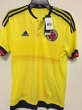 adidas Colombia Official 2015 2016 Home Soccer Football Jersey