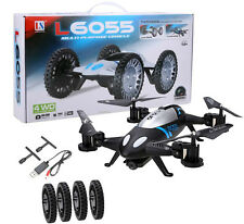 L6055 2 IN 1 quadricottero radiocomandato Drone & Car 2.4GHZ 6-Axis UFO batteria
