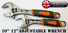 ADJUSTABLE WRENCH SPANNER TOOLS PIPE GARAGE RUBBER GRIP HANDLE