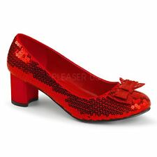Funtasma by Pleaser DOROTHY-01 Sequin Dorothy Shoes Women's Red