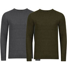 New Mens Dissident Tolstoy Crew Neck Boucle Knitted Jumper Knit Top Size S-XXL