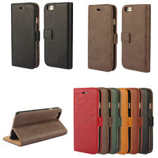 Luxury Flip Leather Wallet Card Slot Stand Case Cover for Apple iPhone