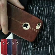 Luxury Ultra-thin Genuine Slim Leather Back Cover Case For iPhone 6 6S