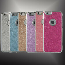 NEW Luxury Diamond Bling Rubber Bumper Case Hard Back Cover For iPhone