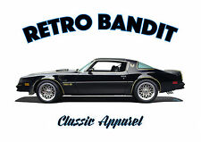 PONTIAC TRANS AM t-shirt. RETRO. CLASSIC CAR. MODIFIED. TRANS-AM. BANDIT.
