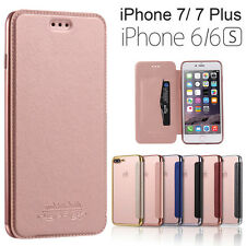 Luxury Slim Wallet Flip Leather TPU Back Case Cover Skin For iPhone 6