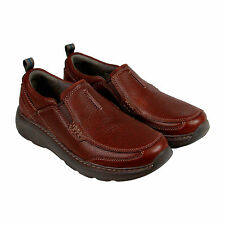 Clarks Charton Step Mens Brown Leather Casual Dress Slip On Loafers Shoes