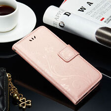 Leather Magnetic Flip Wallet Card Stand Case Cover For iPhone & Samsun