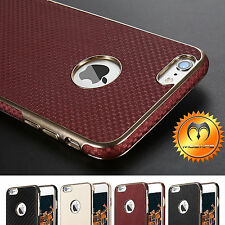 Protective Luxury Ultra Hybrid Back Leather Thin Case Cover for iPhone