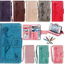 Patterned Leather Wallet Card Holder Stand Flip Case Cover For iPhone