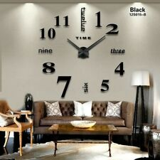 2016 New Home decoration big mirror wall clock modern design 3D DIY large decora