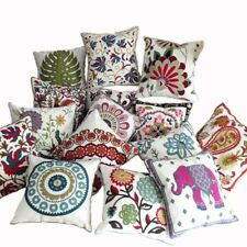 Decorative Cotton Embroidery Cushion Cover 45X45Cm (A~L) Capa de Dlmofada Sofa C