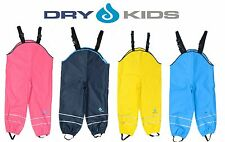 Dry Kids Infantil Pantalones Impermeables Mono Sin Forro Chicos Y Chicas 2 12yrs