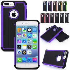 Shockproof Hybrid Rugged Rubber Armor Hard Back Case Cover For iPhone
