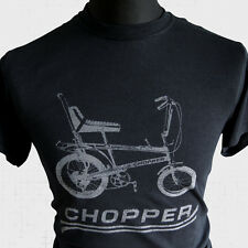 Chopper Bike New T Shirt Raleigh Grifter Cool Retro 70's 80's Vintage Cycle blk